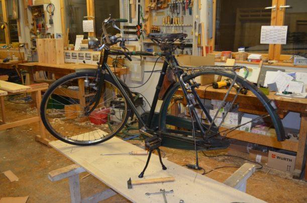 Das Fahrrad im unfertigen Zustand