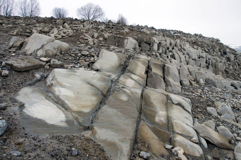 Ein Gletscherschliff bei den Deutenhausener Schichten