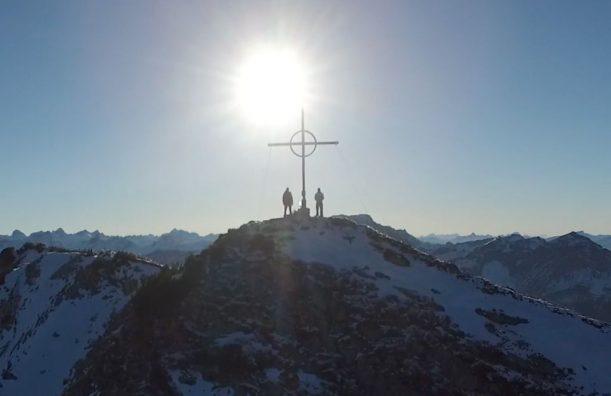 Gipfel Kreuz Vater Sohn