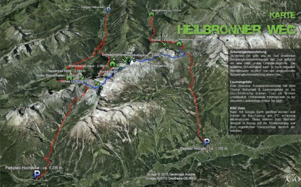 Google Earth Wanderkarte Heilbronner Weg