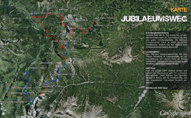 Google Earth Jubiläumsweg Wanderung