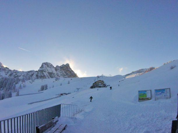 Bergstation Gondel Blick Richtung Aggenstein