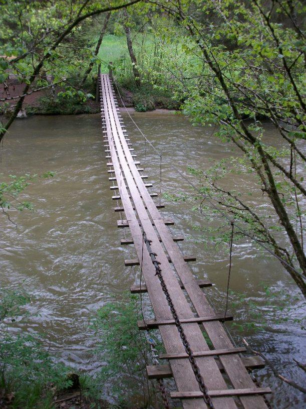 Hängebrücke bei Geigers im Allgäu
