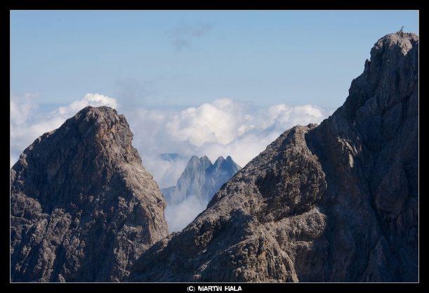 Blick auf bekannte Gipfel auf dem Heilbronner Wanderweg