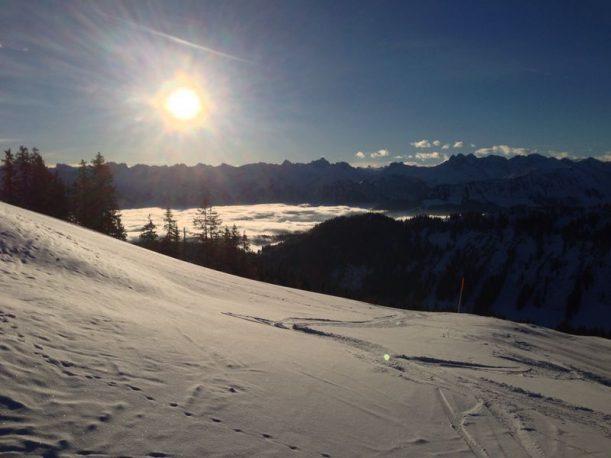 Wunderschöner Ausblick auf die Allgäuer Alpen