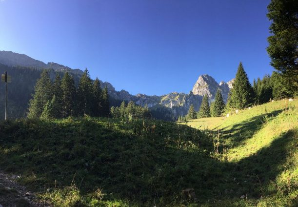 Ausgang aus der Klamm mit Blick Richtung Aggenstein