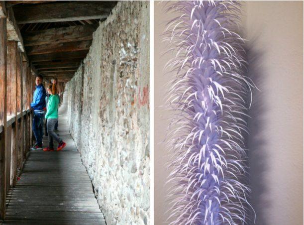Lebendige Stadt: Teenager auf der Mauer, Künstler im Turm von Isny