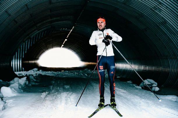 Tunnel im Langlaufstadion