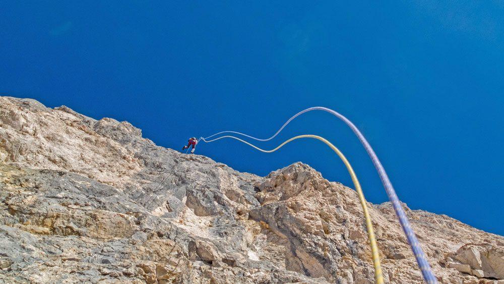 Klettern in Tirol an Weihnachten