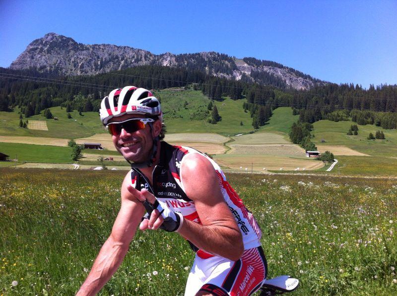Marcel auf dem Rennrad