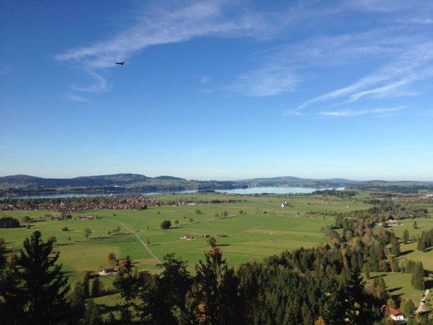Landschaft rund um das Schloss Neuschwanstein