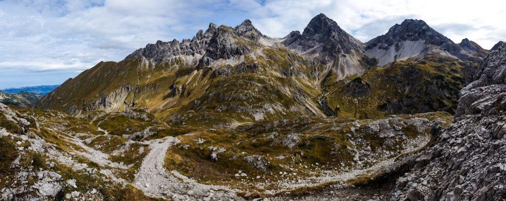 Allgäuer Alpen Gipfelpanorama