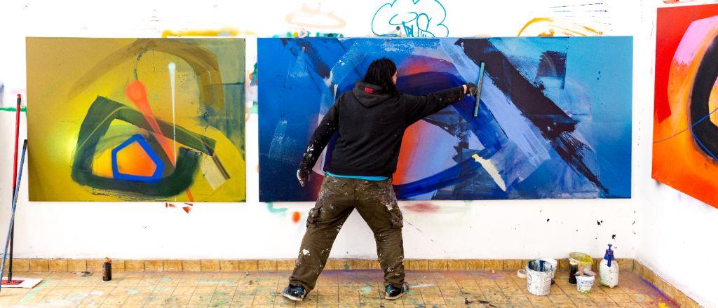 Graffiti Künstler Robert Wilhlem, Foto Simon Toplak