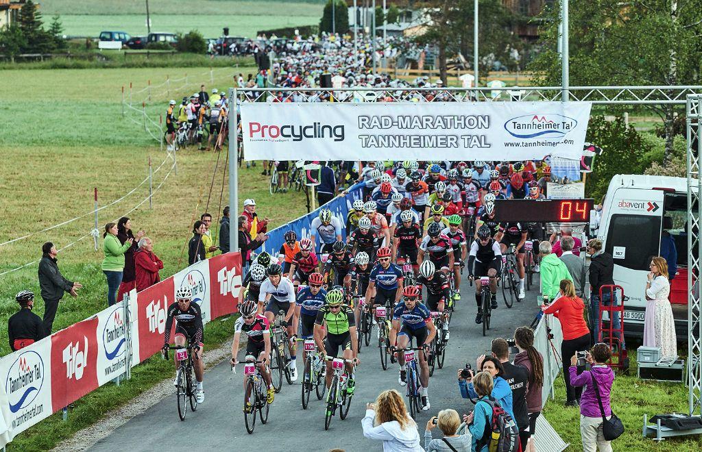 Start Rad-Marathon Tannheimer Tal