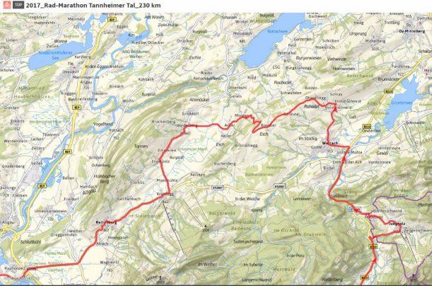 Rad-Marathon Tannheimer Tal Streckenänderung