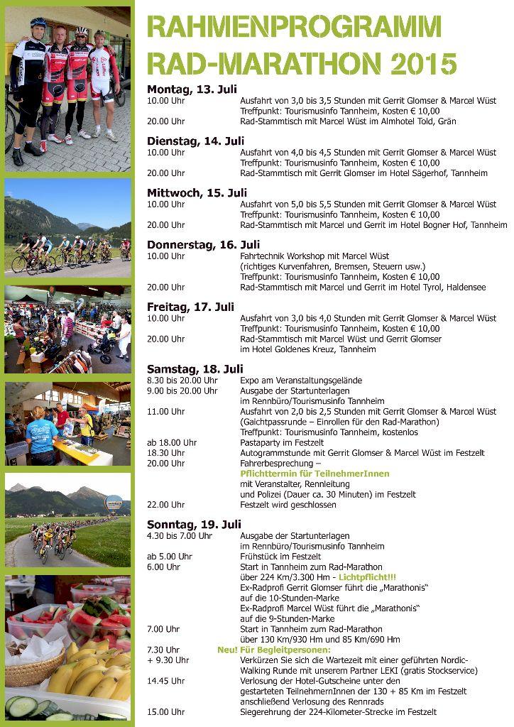 Rahmenprogramm Rad-Marathon