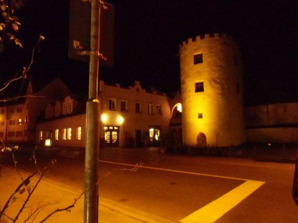 Stadtmauer und Seilerturm von Füssen