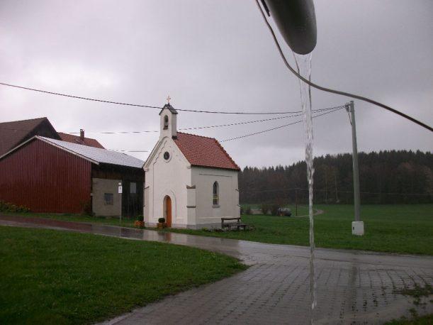 Der Regen begleitet mich bei der Heutigen Wanderung