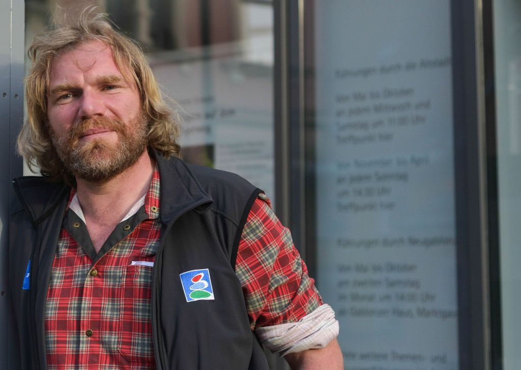 Extremwanderer Thorsten Hoyer bei seiner Wanderung