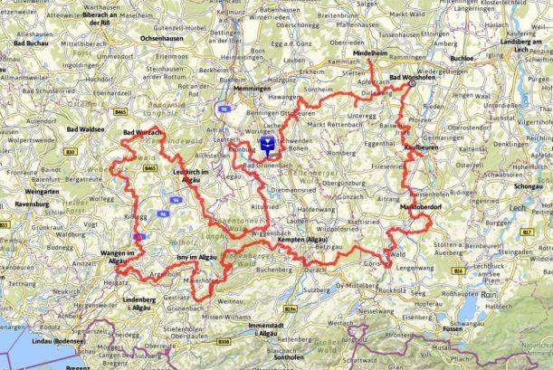 Wiesengänger-Route : Wanderkarte im Allgäu