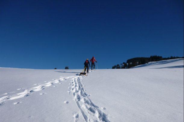 Schneeschuhwanderung hinauf zum Kemptener Naturfreundehaus