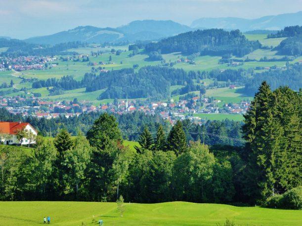 Blick über Weiler im Allgäu