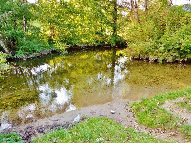 Zusammenfluss von Rothach und Hausbach bei Weiler im Allgäu