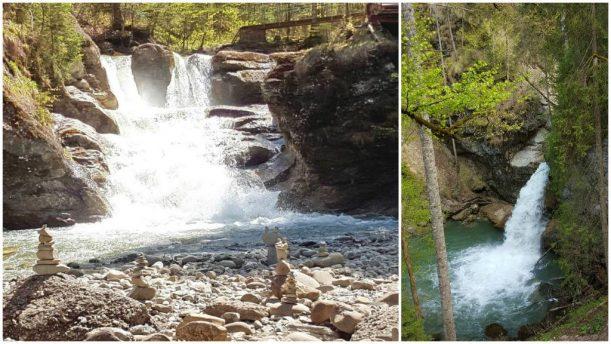 Imposante Wasserfälle und Steinmanderl auf der Wanderung im Gunzesrieder Ostertaltobel