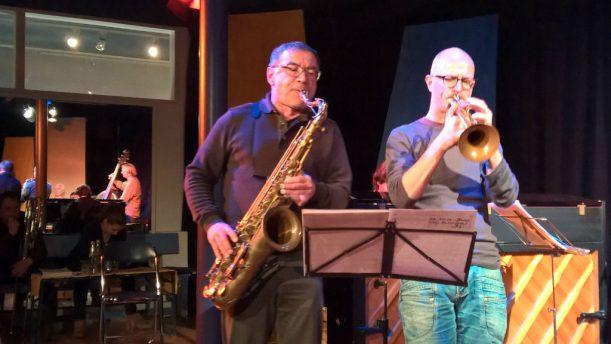 Saxophonist Dieter Müller und Trompeter Christian Eberhard.